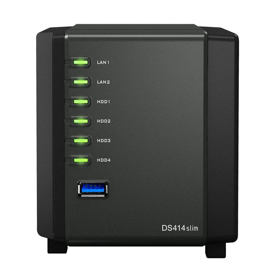 Synology DiskStation DS414slim 4-Bay NAS-System Frontansicht