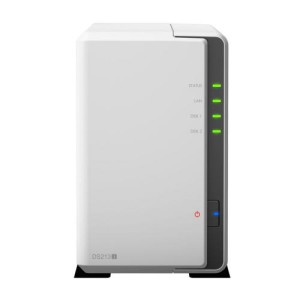 Synology DS213J NAS Server Frontansicht